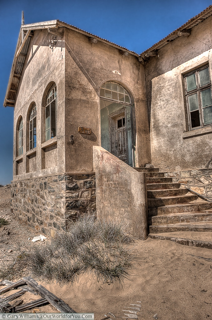 Another view of the Doctor's surgery, Kolmanskop, Namibia