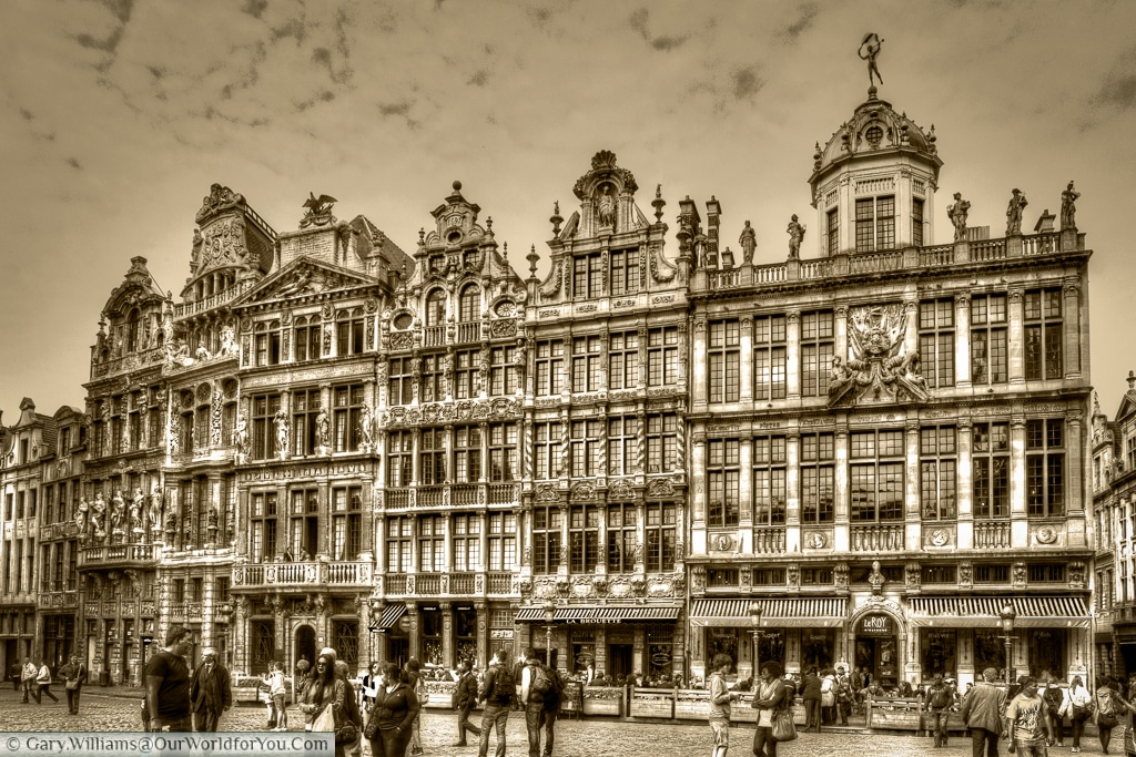 The Grand Place - North-East corner, Brussels, Belgium