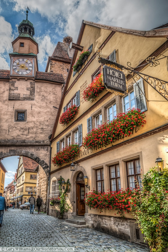 The Markusturm and Röderbogen, Rothenburg ob der Tauber, Bavaria, Germany