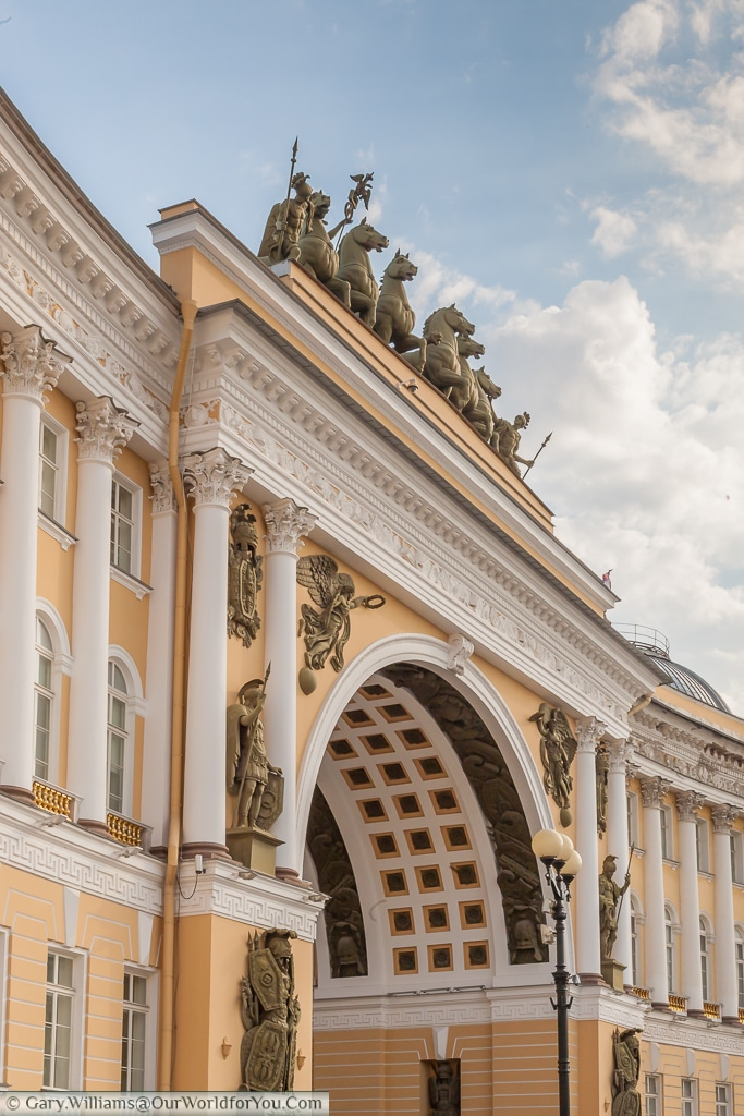 The Triumphal arch in Palace Square, St Petersburg, Russia