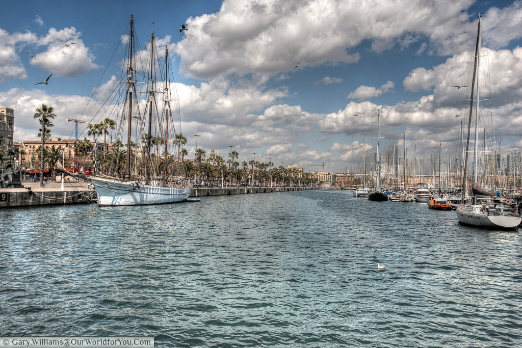 The marina in the old harbour (Port Vell), Barcelona, Spain