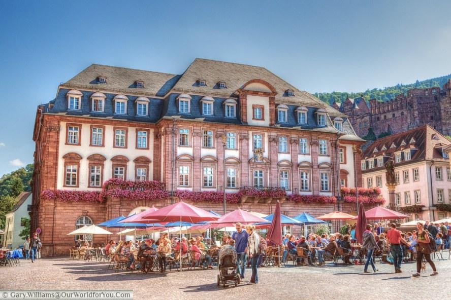The Rathaus from Marktplatz, Heidelberg, Baden-Wurttemberg, Germany