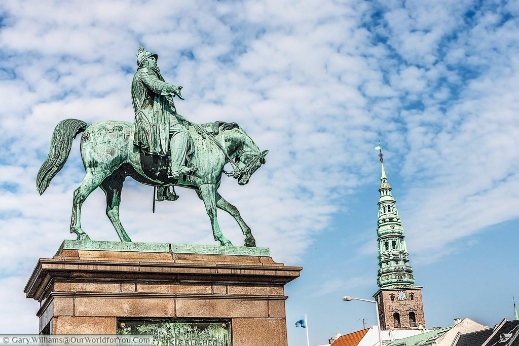 The equestine statue of Frederick VII in Palace Square, Copenhagen, Denmark