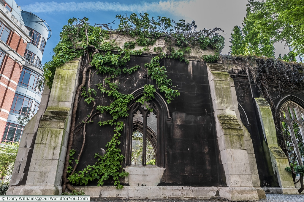 A shell, St Dunstan's in the East, City of London, UK