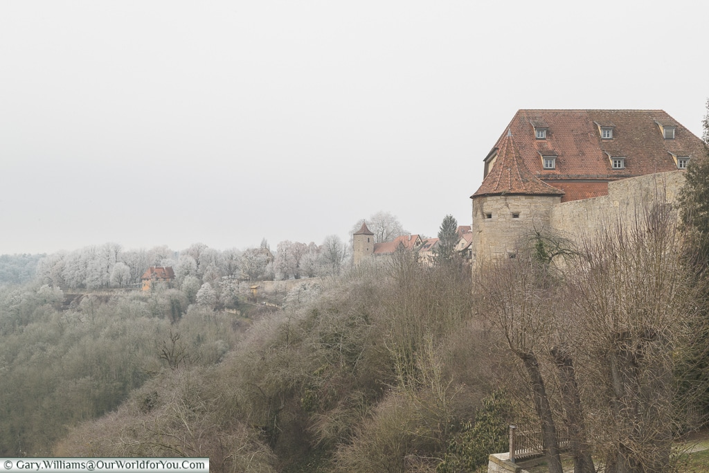 A wintery day in Rothenburg ob der Tauber, Germany