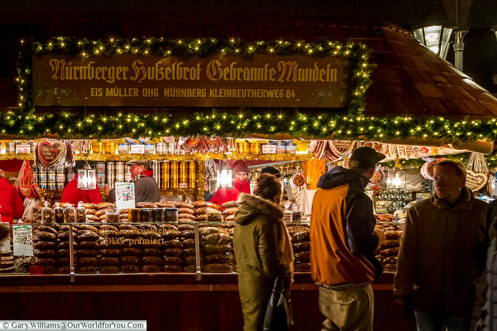 Gingerbread loaves for sale, Nuremberg, Germany