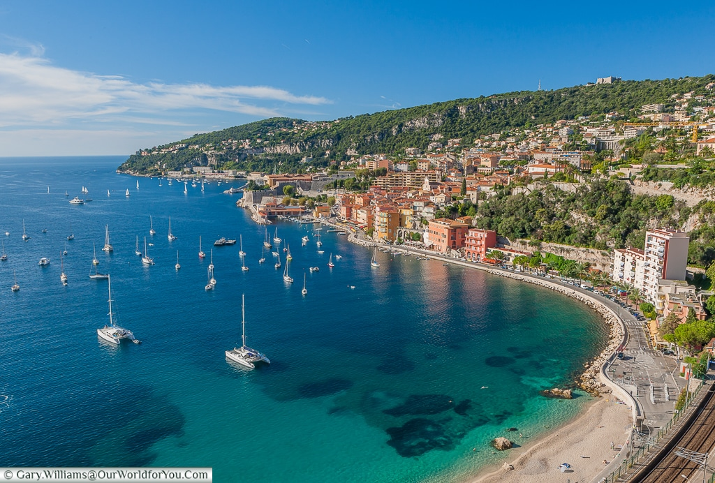 Overlooking the bay at Villefranche-sur-mer, France