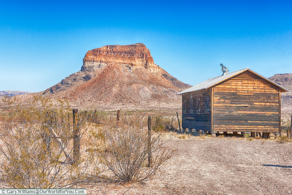 A butte shaped over time, Big Bend NP, Texas, USA