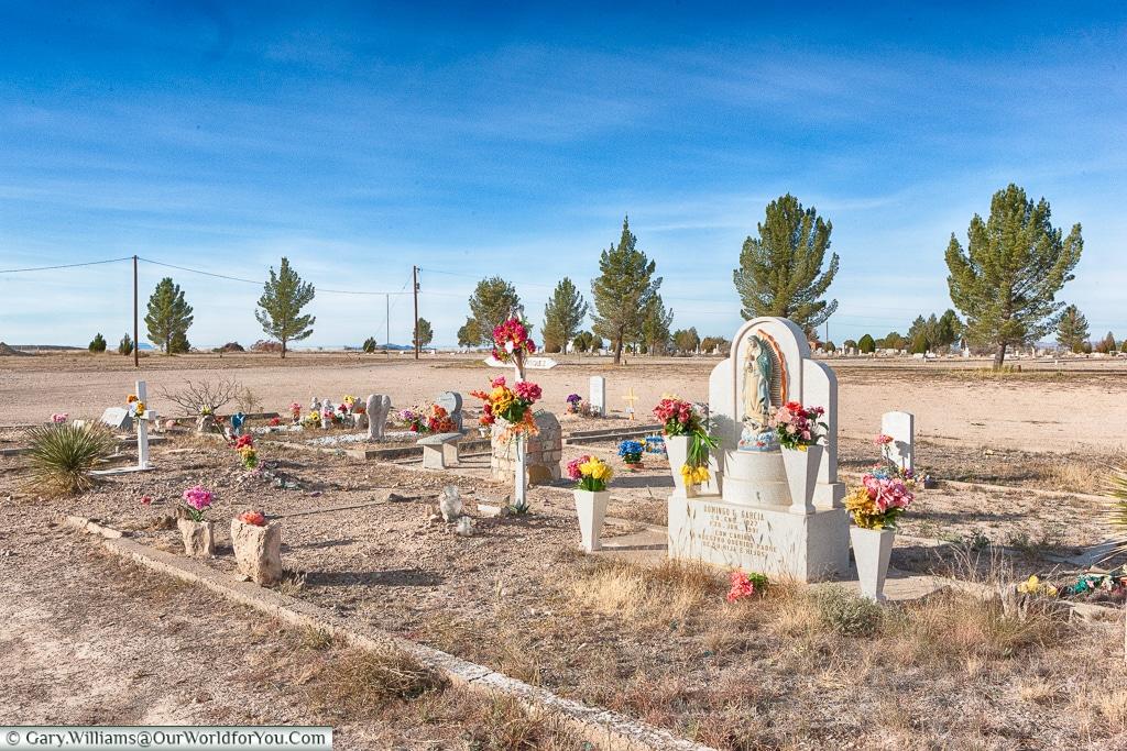 A vibrant memorial of life, Marathon, Texas, USA