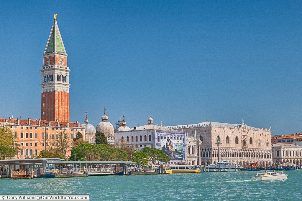 An iconic view across the Grand Canal, Venice, Italy