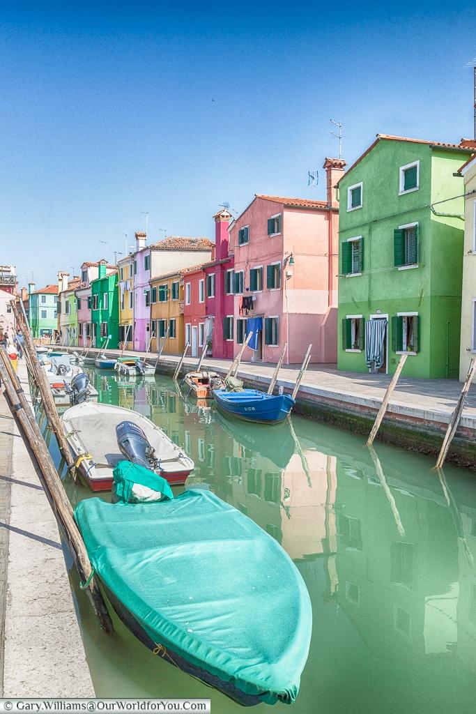 Canalside, Burano, Venice, Italy