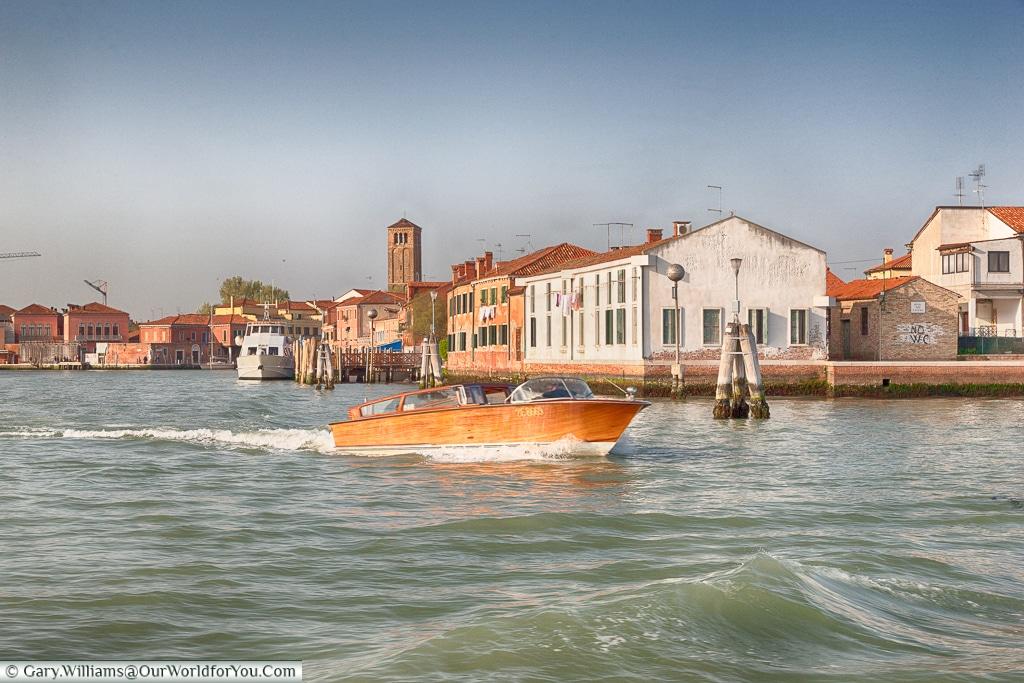 Leaving Murano, Venice, Italy