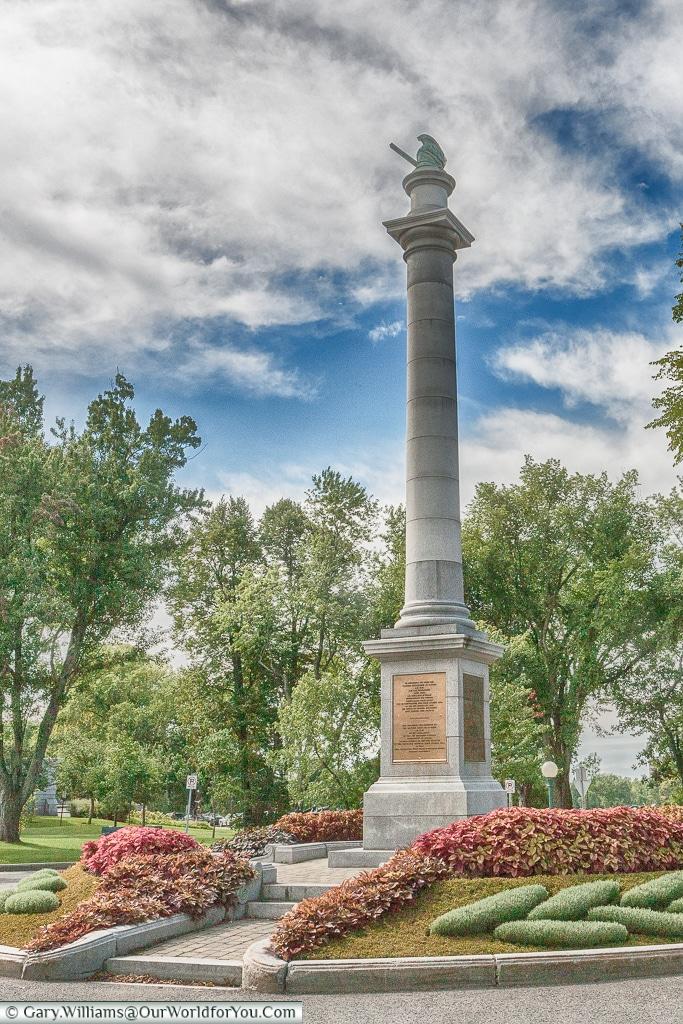 The Wolfe memorial, Québec City, Canada