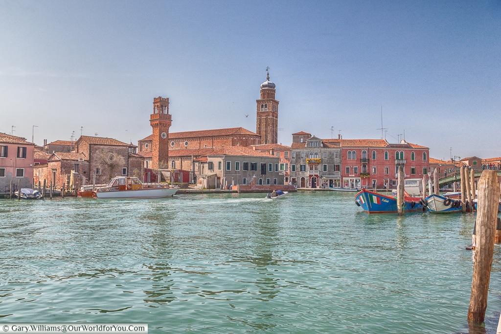 The view of San Pietro Martire, Murano, Venice, Italy