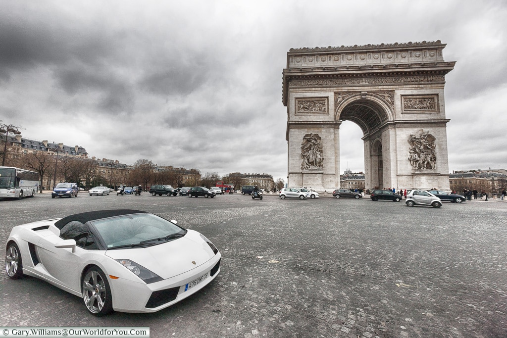 Parked by the Arc de Triomphe, Paris, France