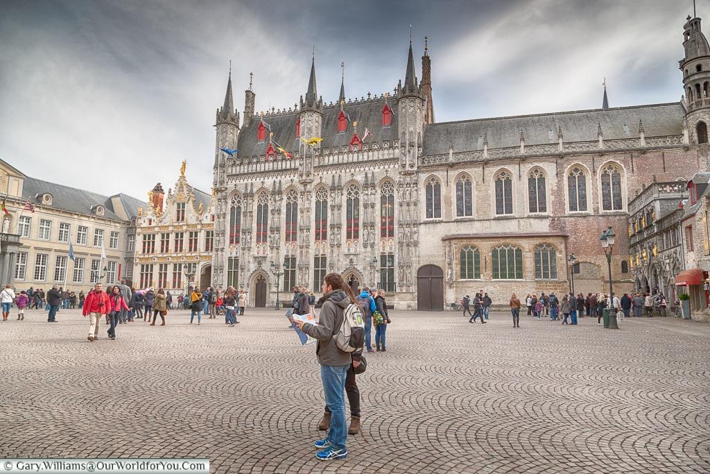 The Burg square, Bruges, Belgium
