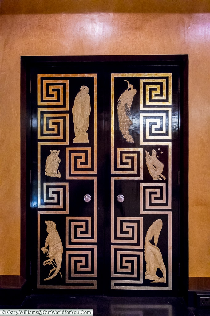 The Dinning Room door, Eltham Palace, London, England, UK