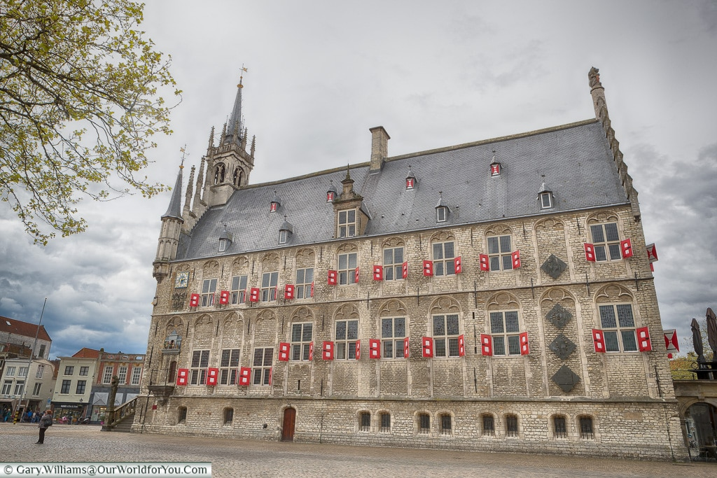 The side of the townhall, Gouda, Holland, Nethelands