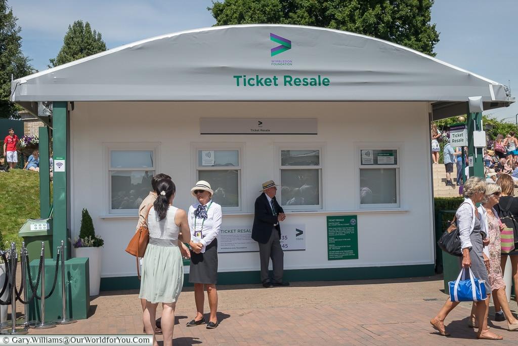 Ticket Resale Office, Tennis, Wimbledon, London, England, UK