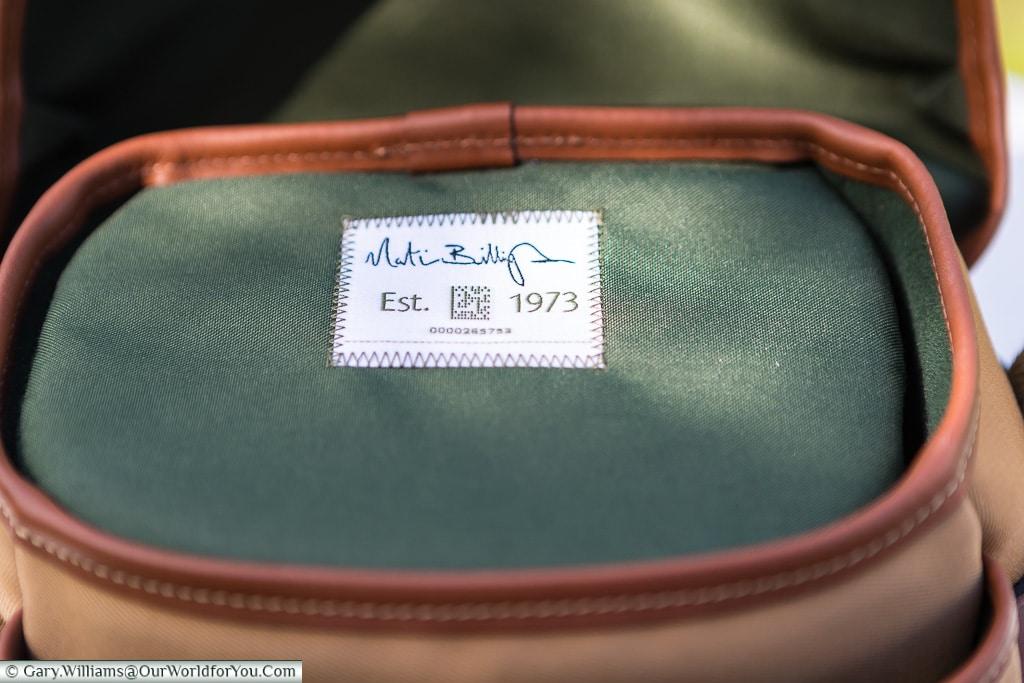 Quality since 1973, Billingham Hadley Digital, Billingham Bags