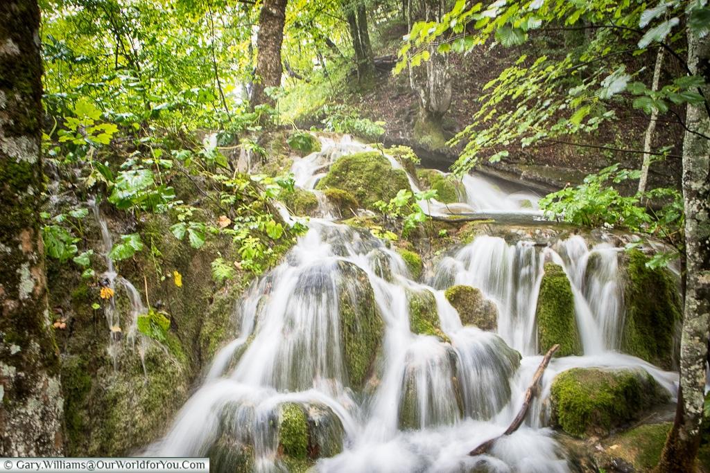 A waterfall in Plitvice, Croatia