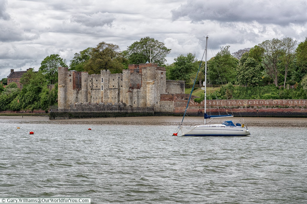 Upnor Castle and the boat, Kent, England, UK