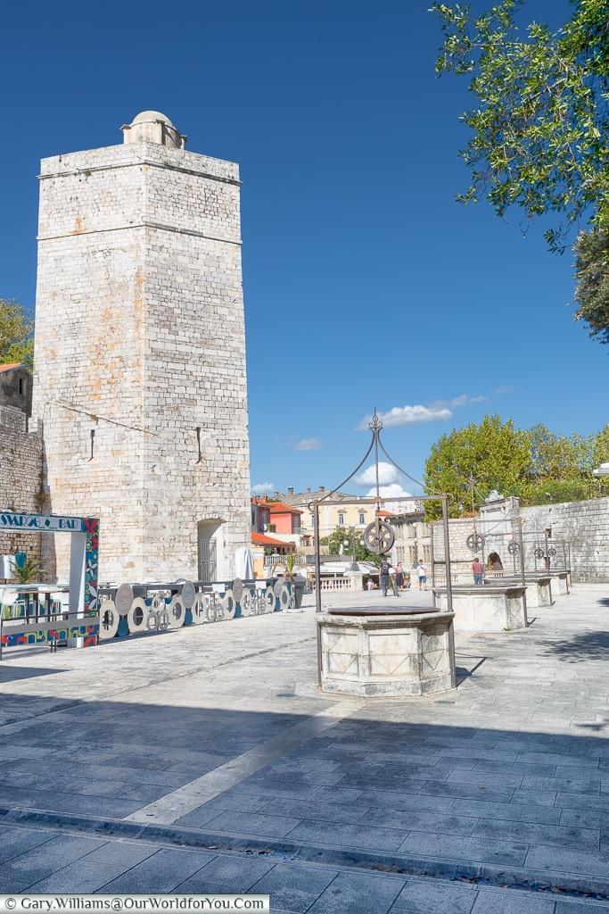 The Five Wells & Captain's Tower, Zadar, Croatia