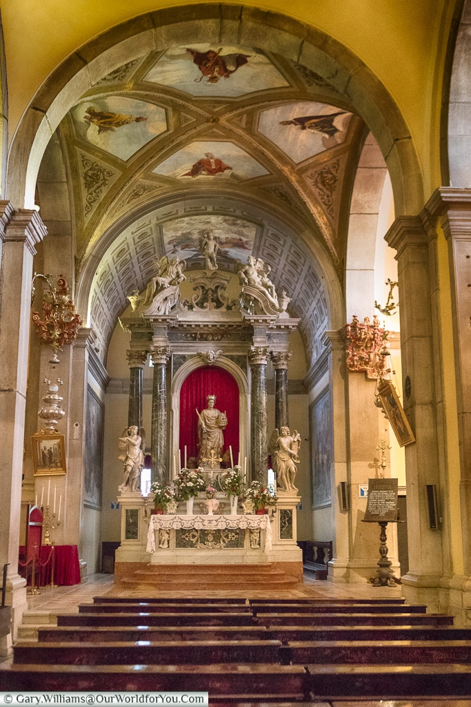 Inside the Church of St. Euphemia, Rovinj, Croatia