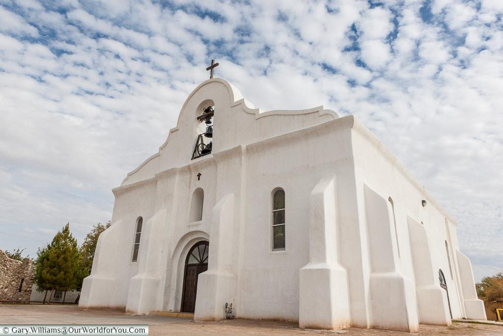 San Elizario Chapel, El Paso, Texas, America, USA