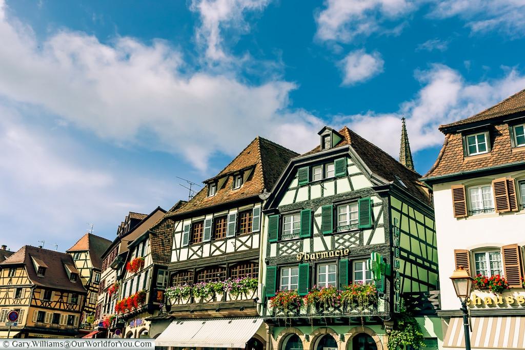Surrounding the Place du Marché, Obernai, Alsace, France