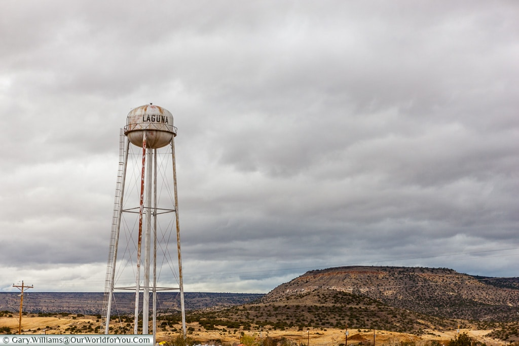 The Water Tower at Laguna, New Mexico, America, USA