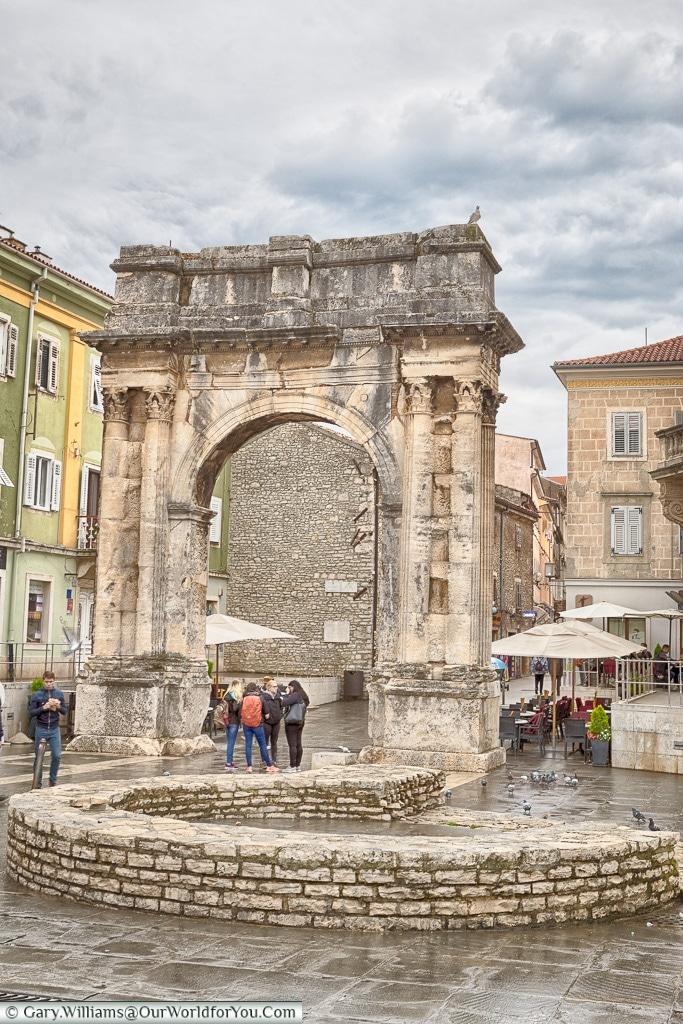 The arch of the Sergii,Pula, Croatia