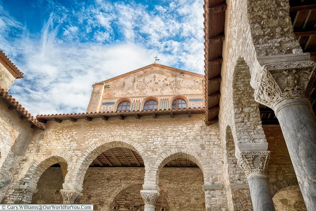 The courtyard of the Euphrasian Basilica, Poreč, Croatia