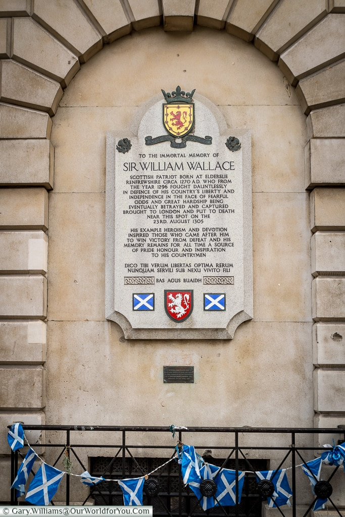 The monument to William Wallace, City of London, London, England
