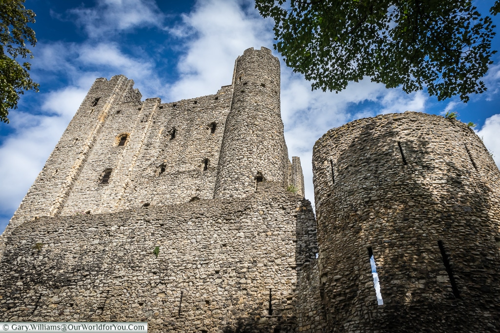 The round tower, Rochester Castle, Rochester, Kent, England, UK