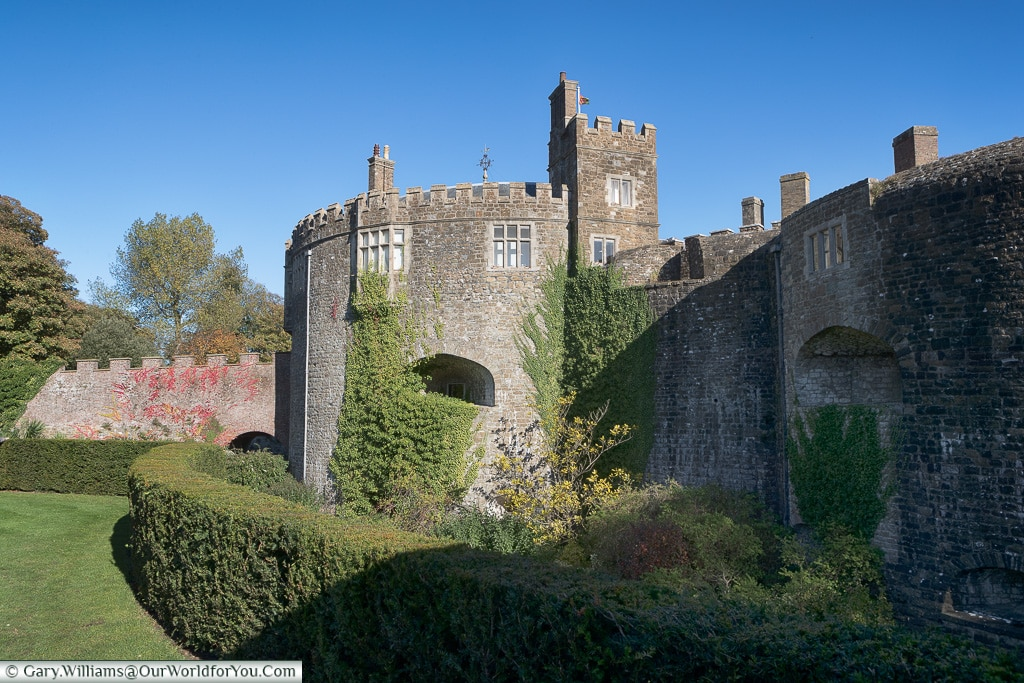Walmer Castle from across the moat, Walmer, Kent, England, UK