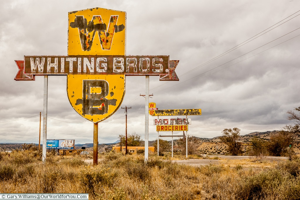 Whiting Brothers on Route 66, New Mexico, America, USA