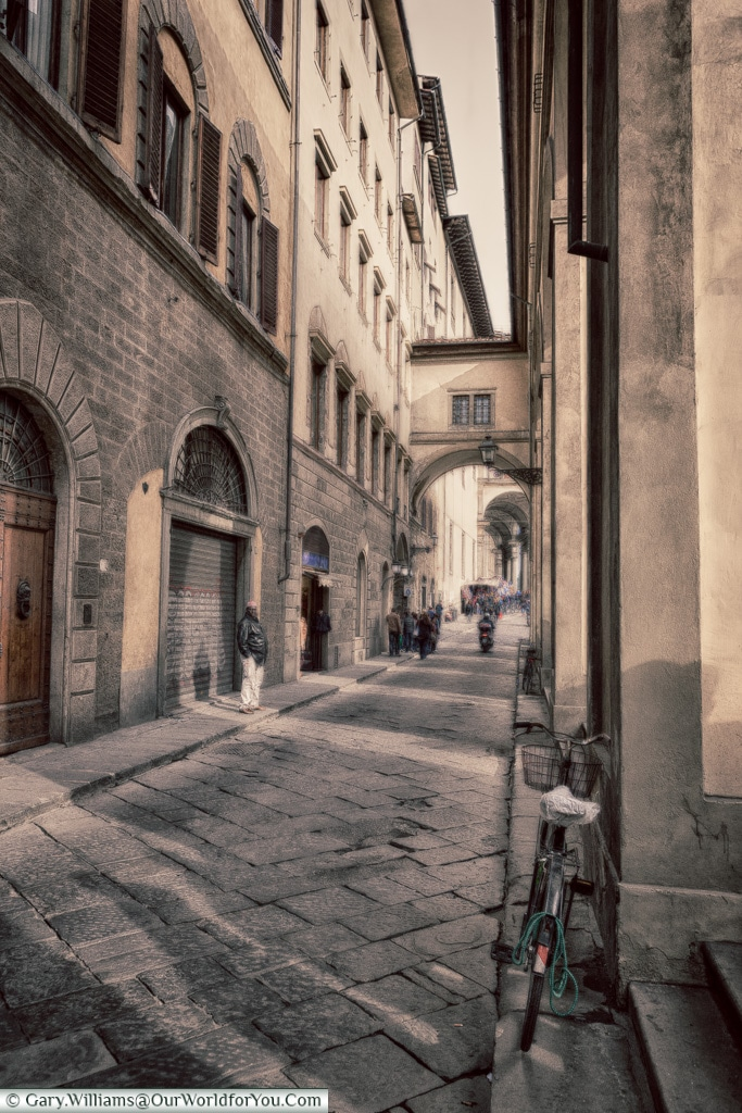 Historic lanes of Florence, Tuscany, Italy