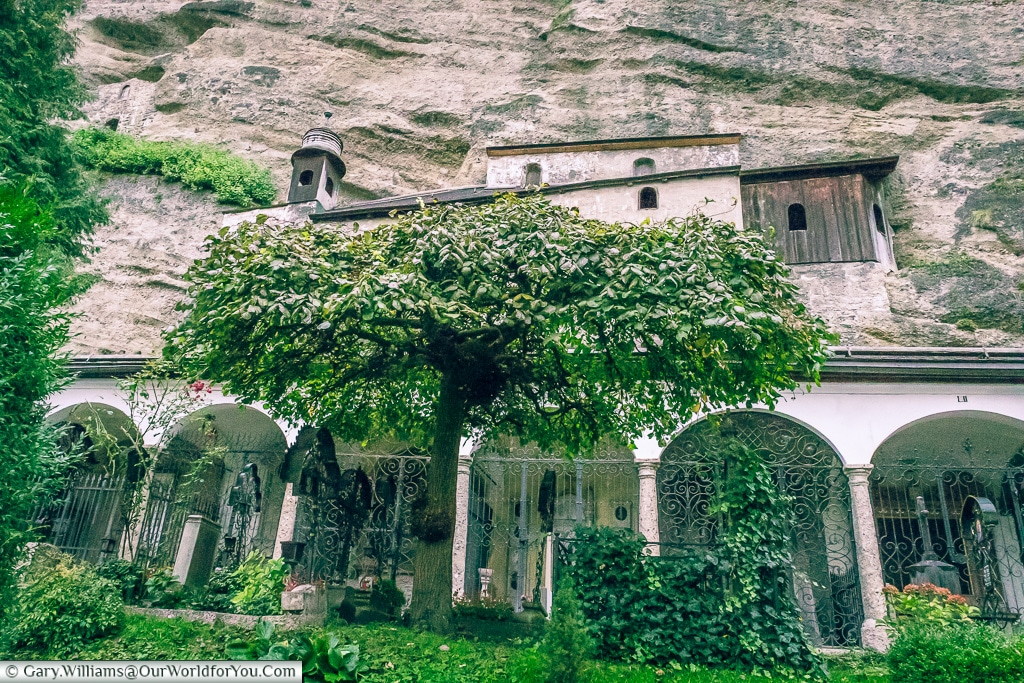 Carved into the hillside, Salzburg, Austria