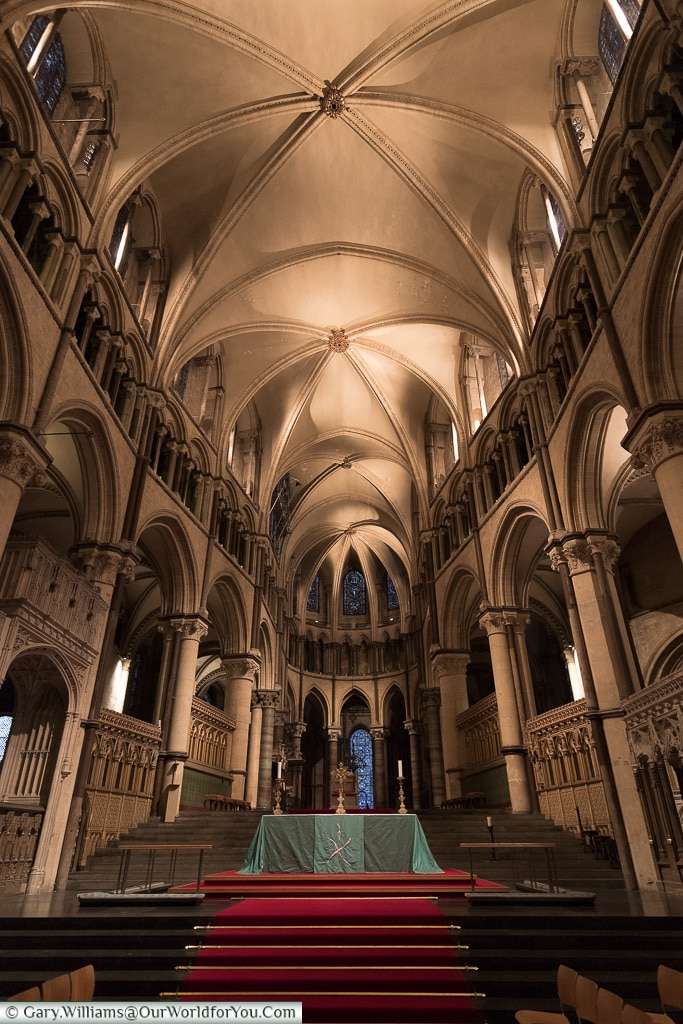 Inside the Cathedral, Canterbury, Kent, England, UK