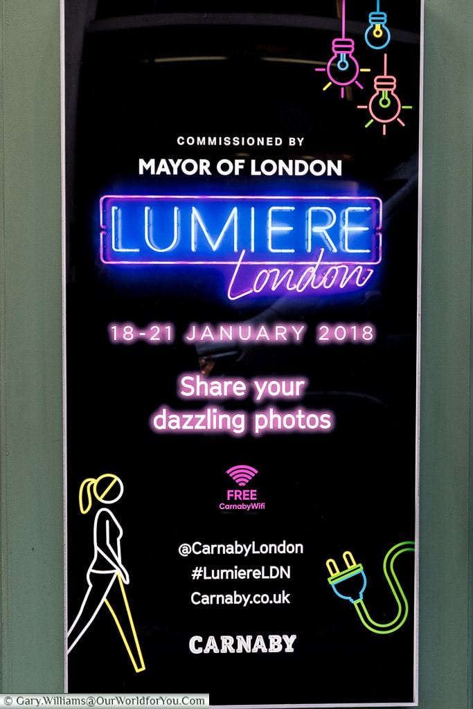 Lumiere London poster, London, England, UK