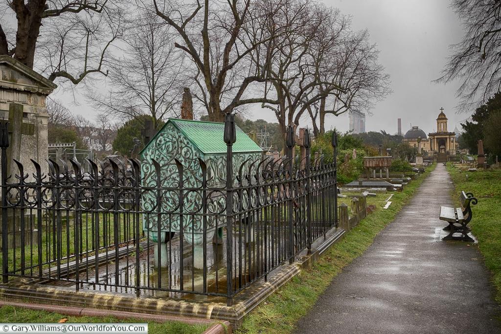 Monument to Frederick Richards Leyland, Brompton Cemetery, London, England, UK