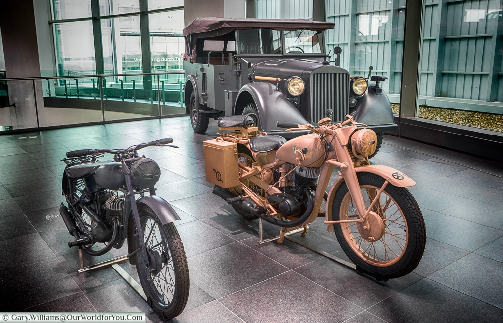 Part of Audi's war effort, Audi Museum, Ingolstadt, Germany