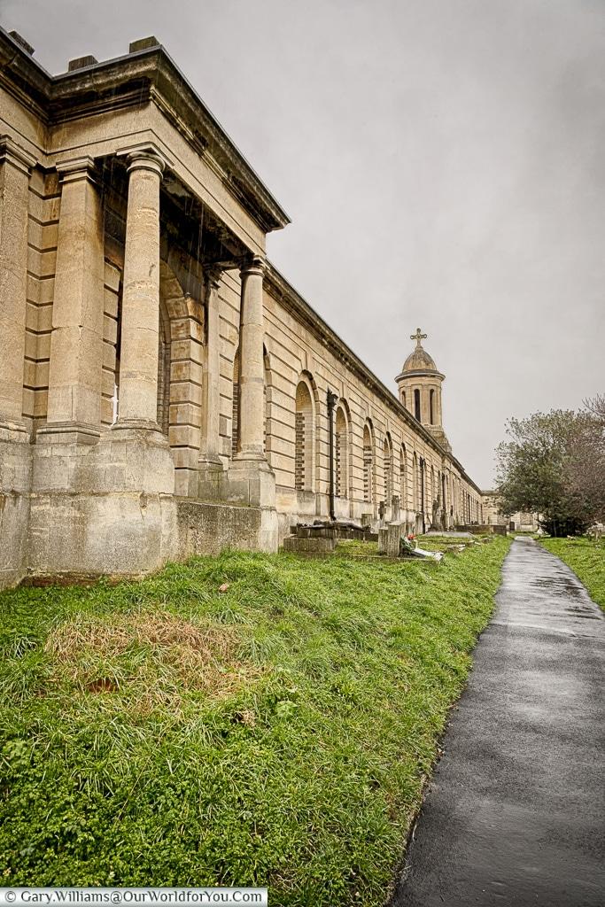 Quiet walkways, Brompton Cemetery, London, England, UK