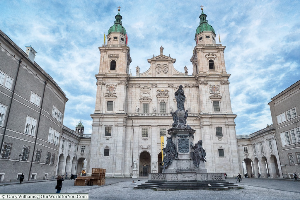 The Cathedral from Domplatz, Salzburg, Austria