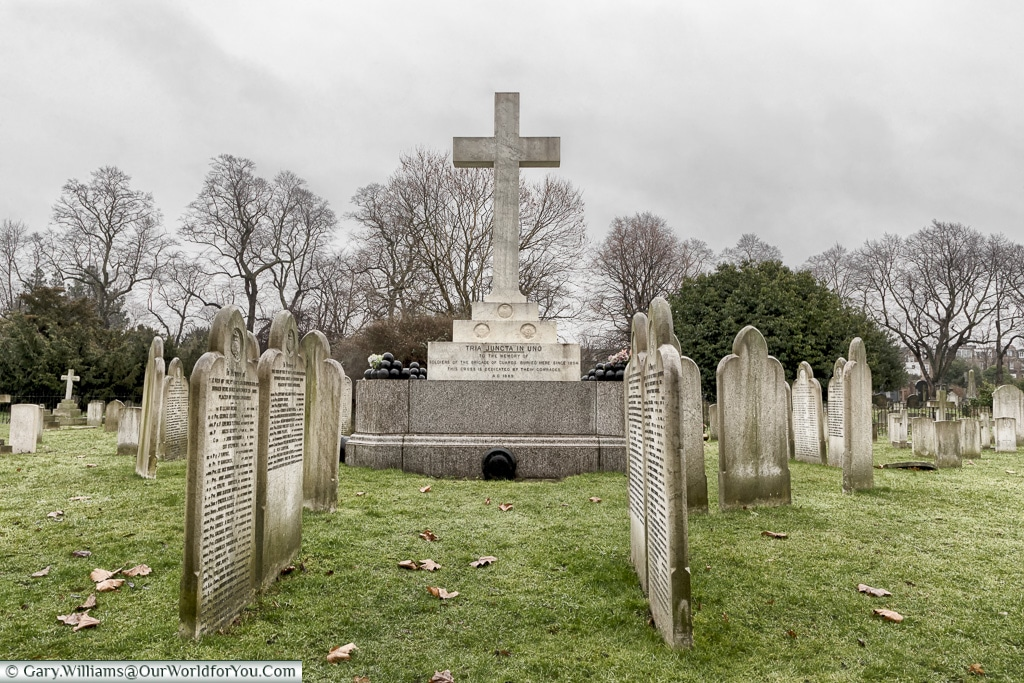 The military section, Brompton Cemetery, London, England, UK