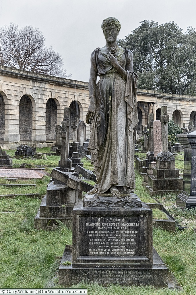 The resting place of Blanche Roosevelt, Brompton Cemetery, London, England, UK