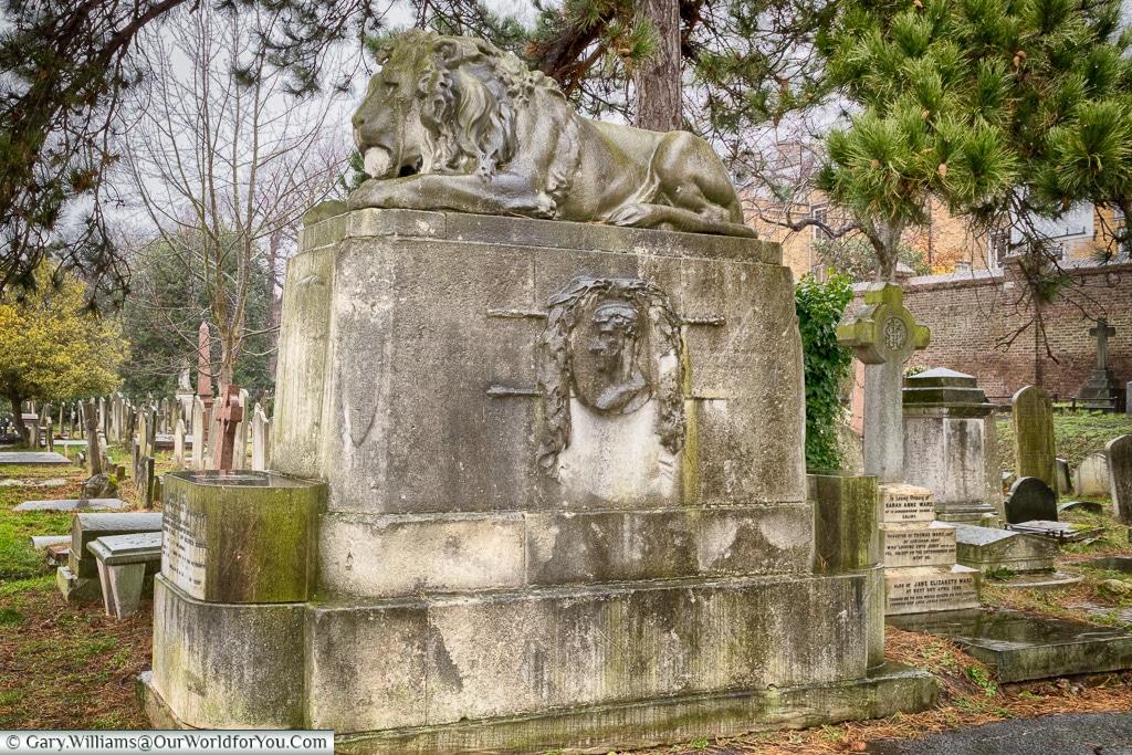 The tomb of Gentleman Jackson, Brompton Cemetery, London, England, UK