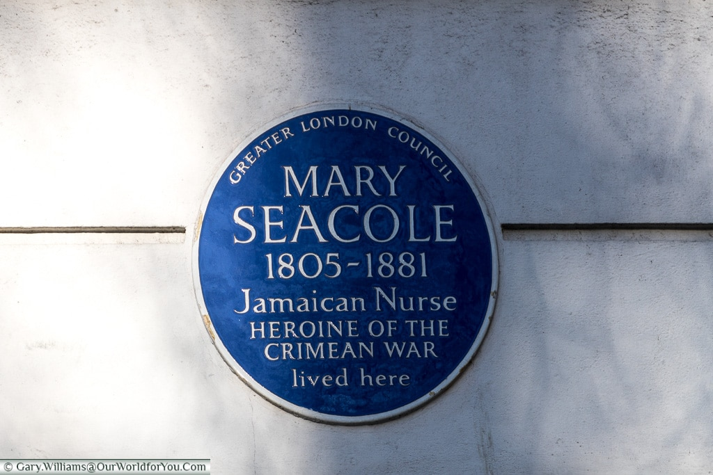 A heroine lost in time, but not forgotten, Blue Plaques, London, England
