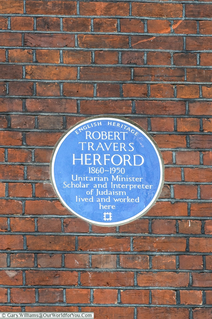 R. Travers Herford, Blue Plaques, London, England